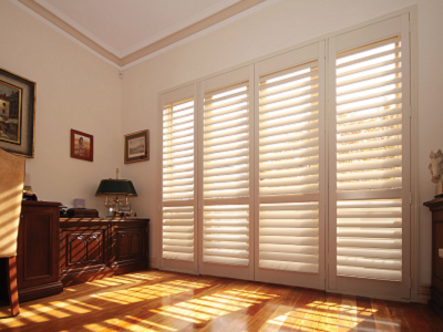 Home improvements with plantation shutters.