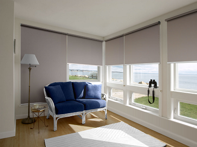 Home improvements with roller blinds.